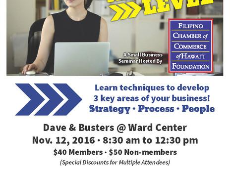 Take Your Biz to the Next Level on Nov 12