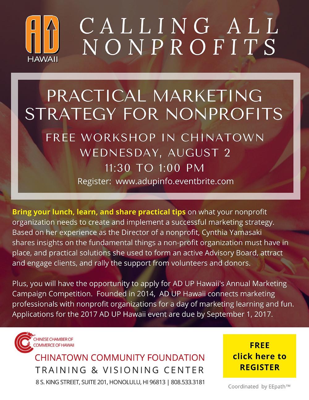 Ad Up Information Workshop on August 2