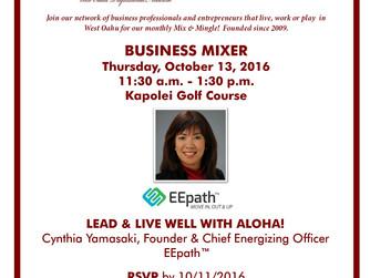 Lead & Live Well with Aloha on Oct 13