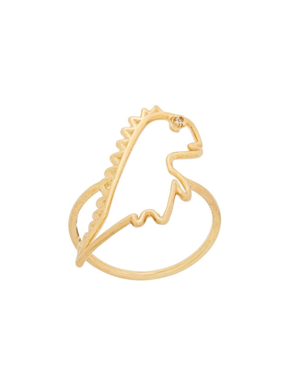Alita 9kt Gold Dino Ring