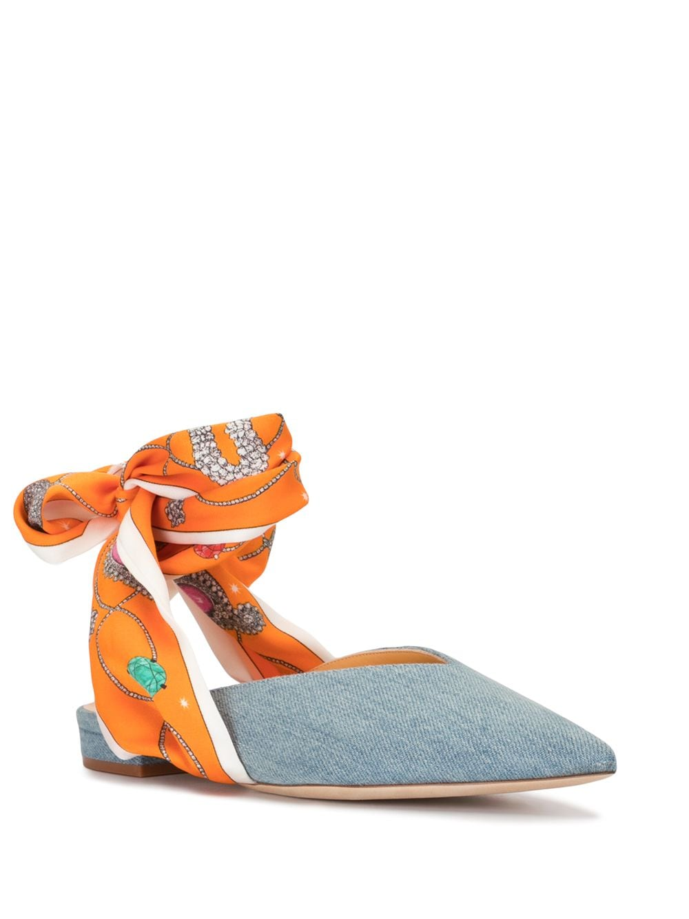 Giannico Ankle Wrap Mules