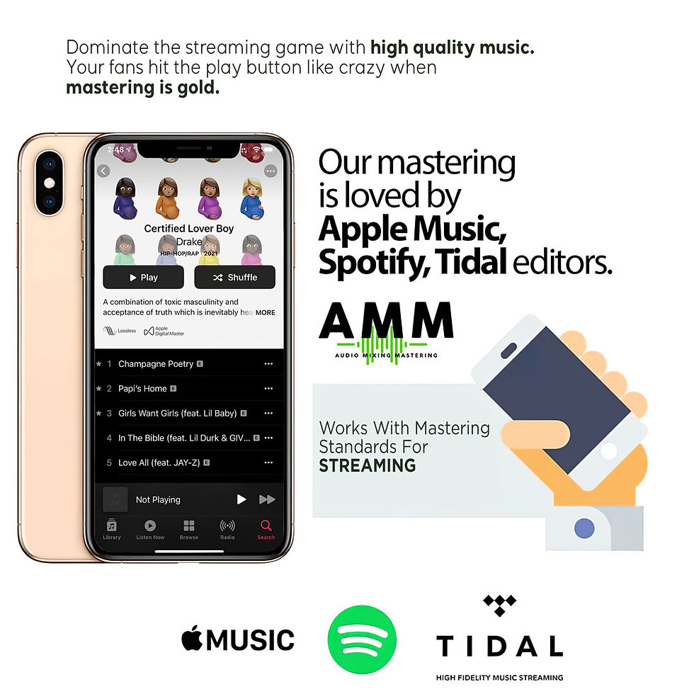Sound mastering loved by Apple, Spotify, Tidal