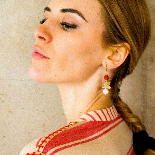 Boucles d'Oreilles Perles Incas