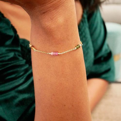 Bracelet Barrette de Tourmalines