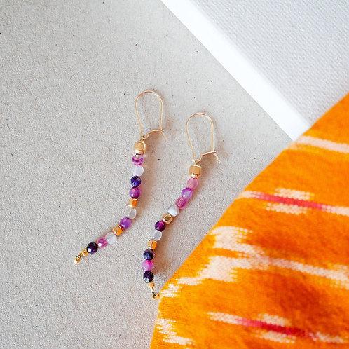 Boucles d'Oreilles Pastel Incas
