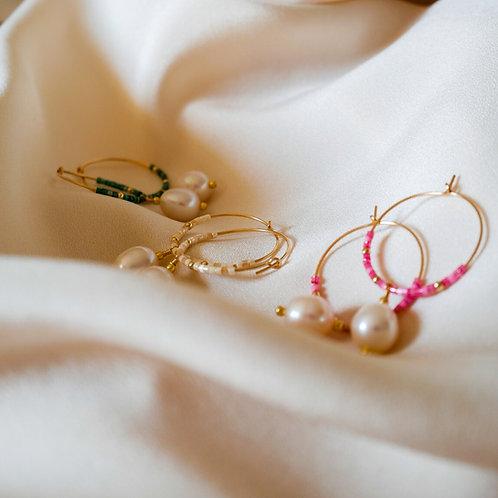 Boucles d'Oreilles Juste 1 Perle