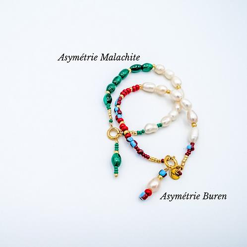Bracelet Asymétrie Malachite