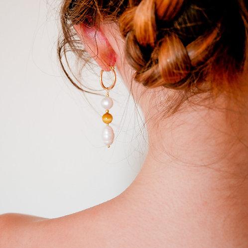 Boucles d'Oreilles Perle de Miel