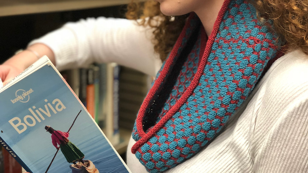 Infinity Scarves - Smurf Blue & Bright Red