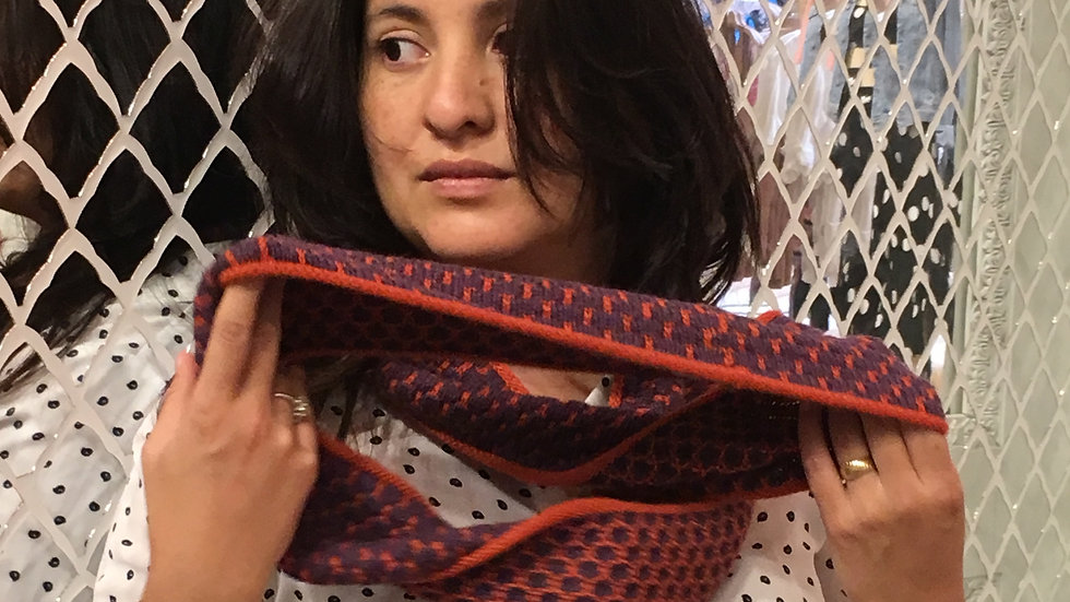 Infinity Scarves - Plum & Orange