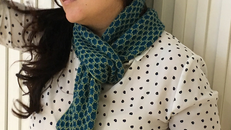 Infinity Scarves - Green & Blue