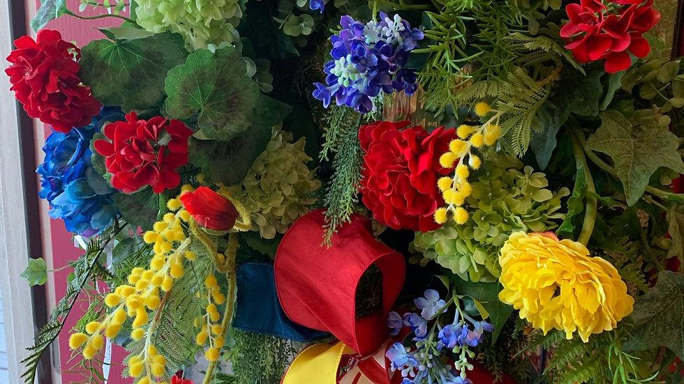 16 inch Flower Wreath