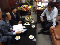 Thảo luận đề án xúc tiến cho 63 tỉnh thành với Bộ trưởng Bộ KHĐT NGUYỄN CHÍ DŨNG
