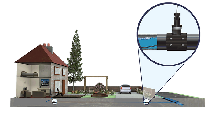 FTTH FTTP FTTX Home Drops Made Easy - D-Series Fibre in the water pipes
