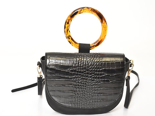 Tortoise Handle Crossbody