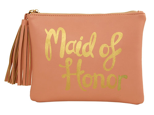"""Maid of Honor"" Cosmetic Bag"
