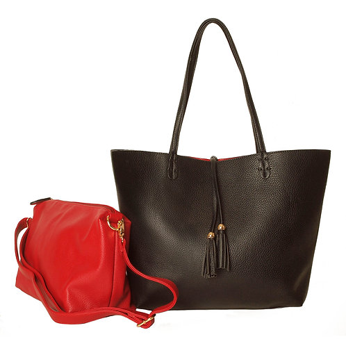 Reversible Tote with Bag- in - Bag