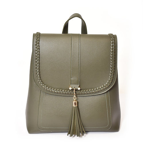 Backpack with Braid Detail