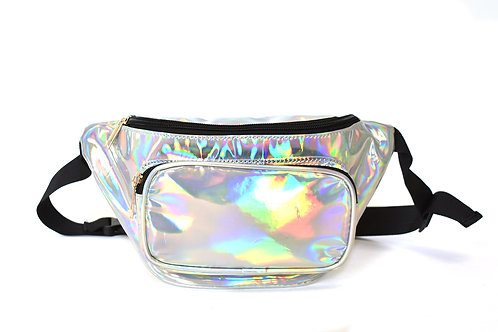 Hologram Silver Fanny Pack