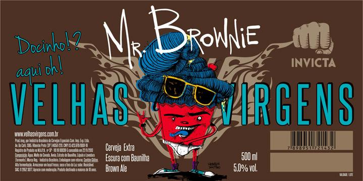 Rótulo Mr. Brownie Velhas Virgens