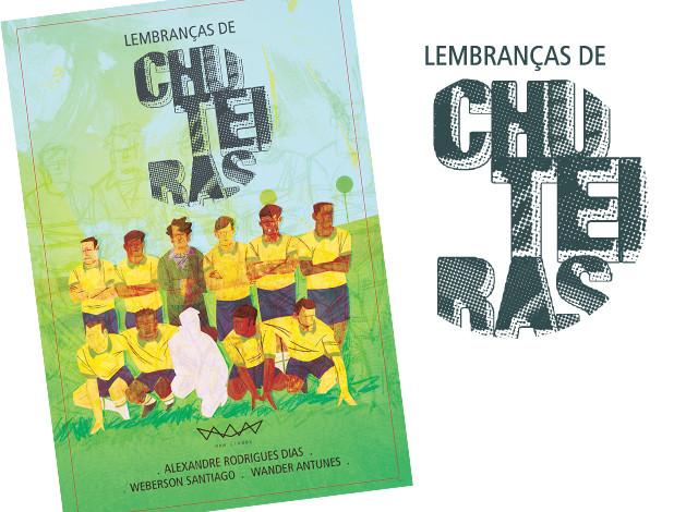 Imagens do projeto de capa. Ilustração Weberson Santiago e Wander Antunes