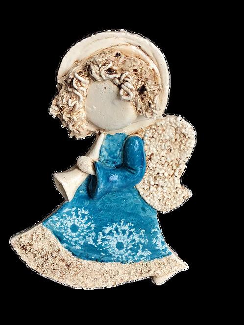 Anioł Lily z trąbką- Rękodzieło, ręcznie malowane