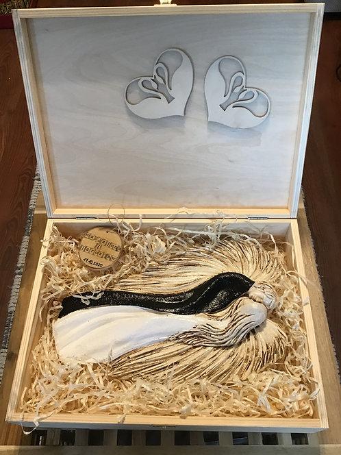 Anioł na ślub, rękodzieło, prezent dla Pary Młodej