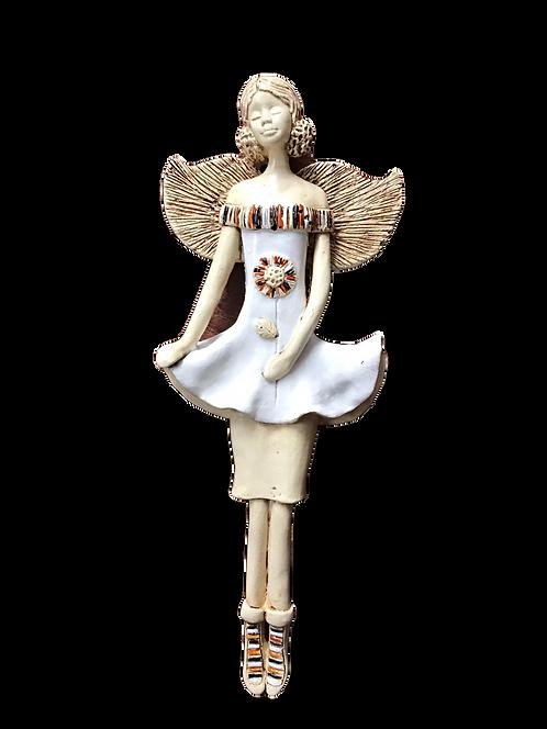 Anioł Bea - Rękodzieło, ręcznie malowane