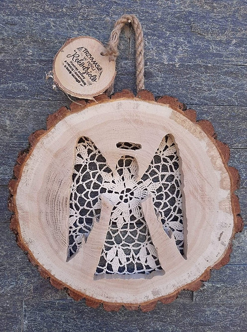 Anioł w plastrze drzewa -wzór 1