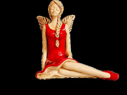 Aniołek z warkoczem - Rękodzieło, ręcznie malowany
