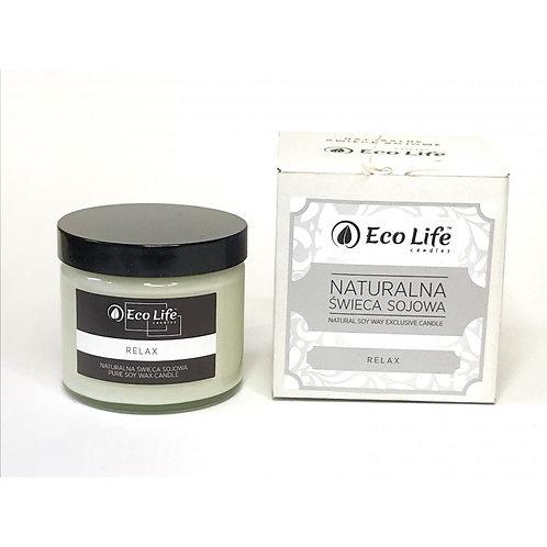"Naturalna świeca sojowa aromaterapia ""Relax"""