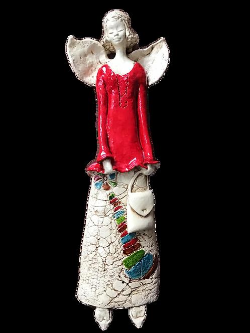 Anioł Chante - Rękodzieło, ręcznie malowany