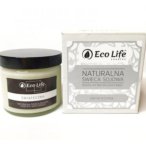 """Naturalna świeca sojowa aromaterapia """"Świąteczna"""""""