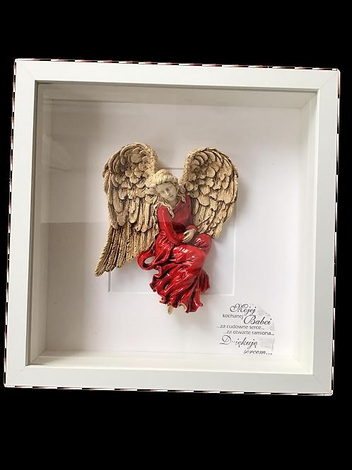 Anioł w ramce - prezent na Dzień Babci i Dziadka