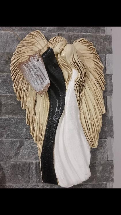 Zakochana Para Aniołów  v3 - Rękodzieło, ręcznie malowane