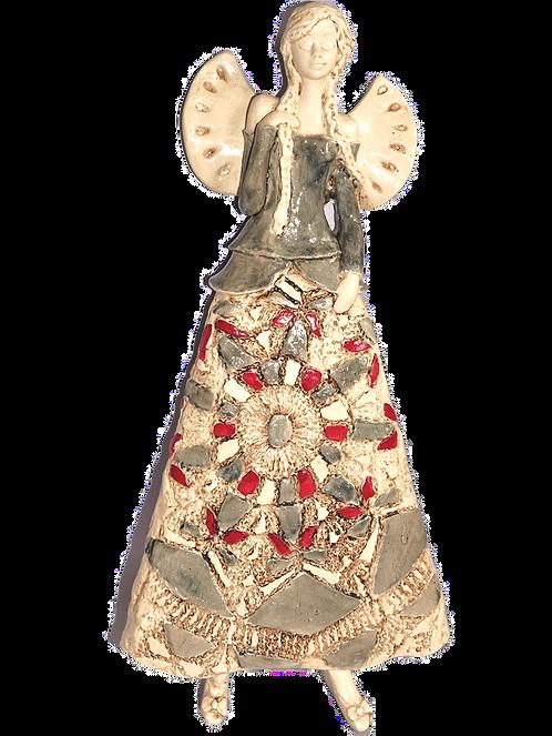 Anioł Heli - Figurka wisząca - Rękodzieło, ręcznie malowane