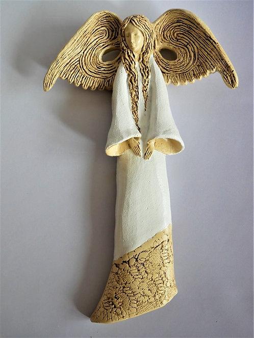 Anioł Cleo - Figurka wisząca - Rękodzieło, ręcznie malowane