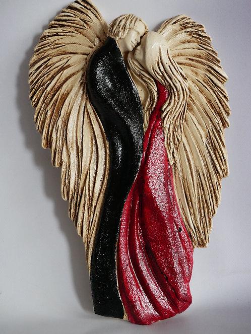 Zakochana Para Aniołów v2 - Wiszące - Rękodzieło, ręcznie malowane
