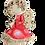 Thumbnail: Anioł Lily z trąbką- Rękodzieło, ręcznie malowane