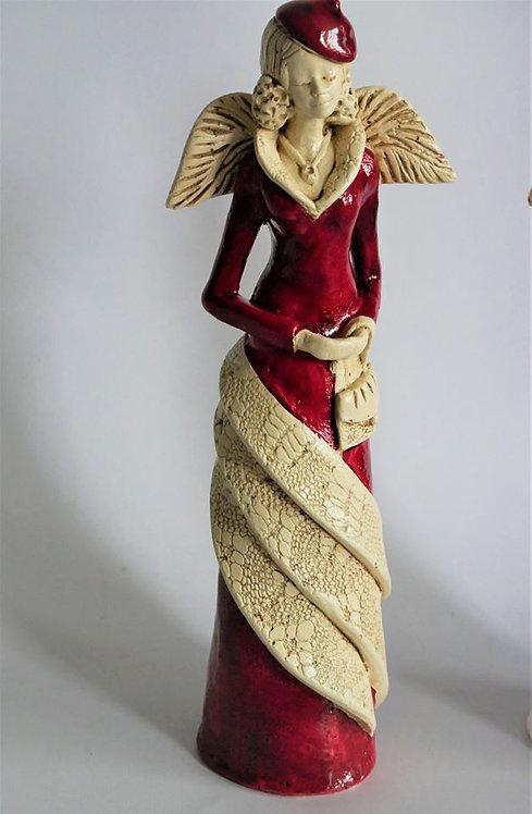 Anioł Gina - Rękodzieło, ręcznie malowane