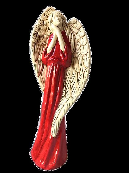Anioł Gabi - Rękodzieło, ręcznie malowany