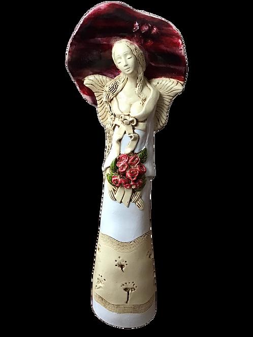 Anioł Megane - Rękodzieło, ręcznie malowane