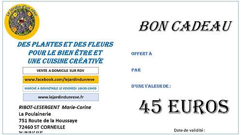 Carte Cadeau 45€