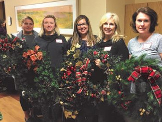 Holiday Elves Adorn Hospital