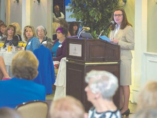 President of MMC , Trish O'Keefe Addresses the Women's Association