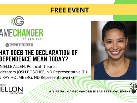 MARCH 25 - GameChanger Ideas Festival Event with Danielle Allen