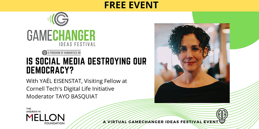 JAN 14 - GameChanger Ideas Festival Event with Yaël Eisenstat