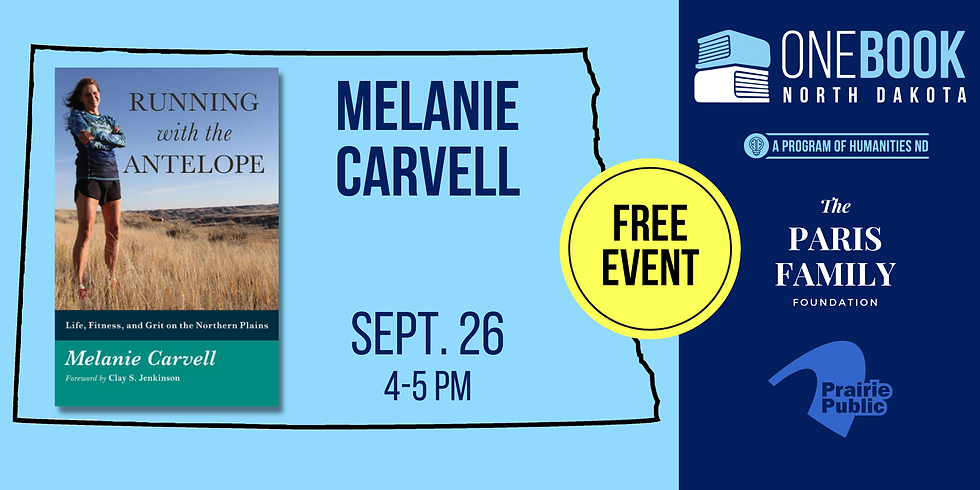 SEPT 26 ONE BOOK, ONE ND featuring Melanie Carvell
