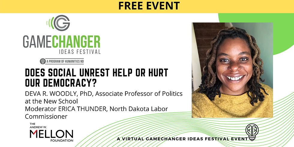 MARCH 4 - GameChanger Ideas Festival Event with Deva Woodly