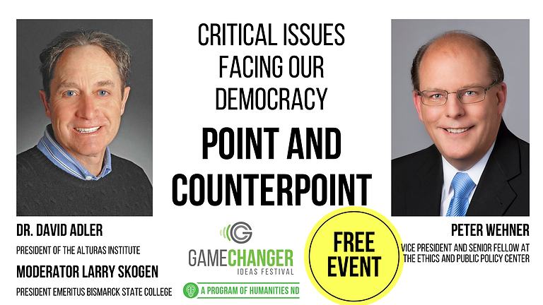 NOV 9 Critical Issues Facing Our Democracy Point and Counterpoint